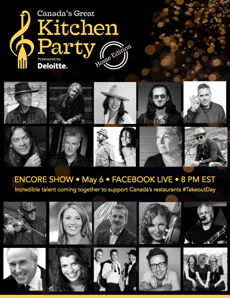 This just in...Geddy Lee from @rushtheband will make an appearance in tonight's live stream!  8pm EST on Facebook Live!  Join KP - Home Edition's ENCORE SHOW tonight @ 6pm MST!   #GreatKitchenParty Tune in at: https://t.co/U7TxQiBCWv https://t.co/nsh64Yh9Fj