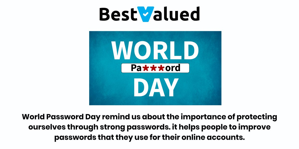 BestValued wishes you World Password Day!!! Visit our website: https://t.co/gFy3APXzVv #mybvdesign #BestValued #bestvalued #instagood #followme #instadaily #idea #follow  #password #security #cybersecurity #hacking #senha #tag #hacker #odeacesso #biometrics https://t.co/lNfZukEUZf