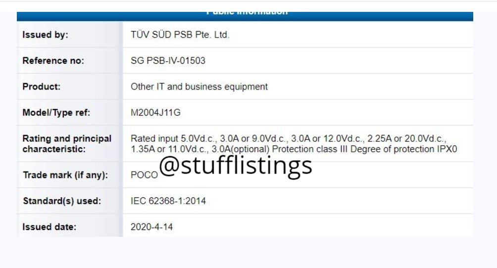 Poco F2 Leaks Confirmed 30W Fast Charge and NFC Support