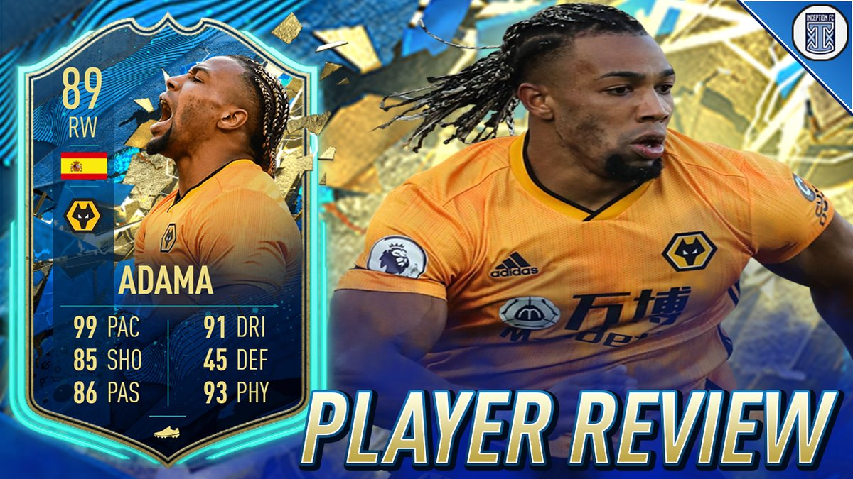 Inceptionfc On Twitter 89 Team Of The Season So Far Traore Player Review Totssf Adama Traore Fifa 20 Ultimate Team Https T Co Stddeuw0up Https T Co Stnj3fy82z