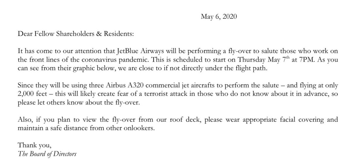 The sad strangeness of living in New York right now is my apartment building reassuring residents that what's coming Thursday night is an unusual tribute, not an attack: https://t.co/4NvXrFWaq1