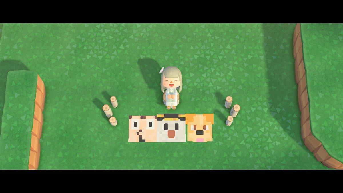 きみのーひとみーのぞいてるーほんねをさぐるよにー #どうぶつの森 #AnimalCrossing #ACNH #NintendoSwitch #ゴラクバ #マイデザイン