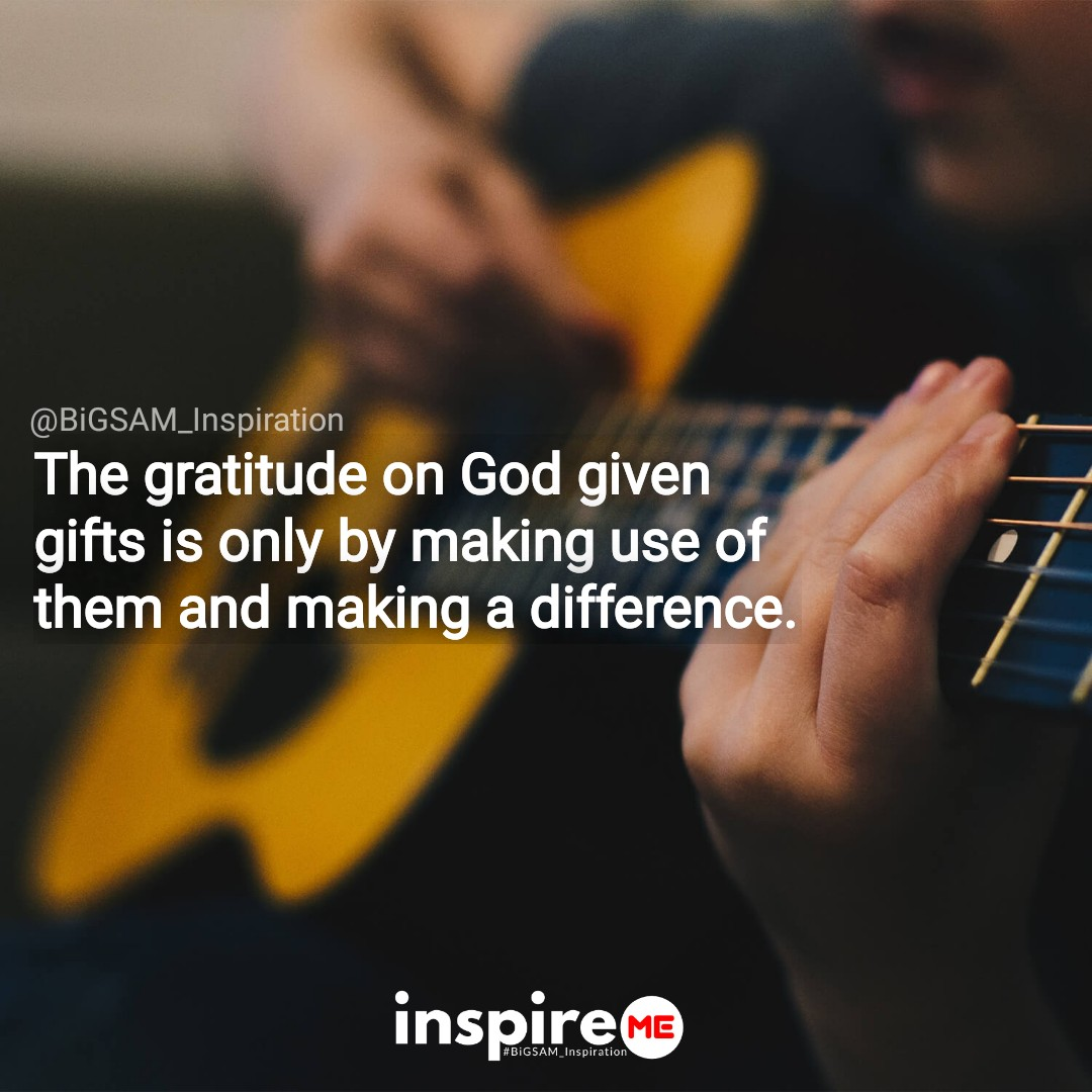 RT BiGSAMInsp: Thank God for the gifts He has given you by putting them into use for His glory. °inspireME #thankful #thankfulthursday #BiGSAM_Inspiration #bigsam_inspiration #quote #entrepreneur #encouragement #inspiration #inspireME #comment #tweegram …