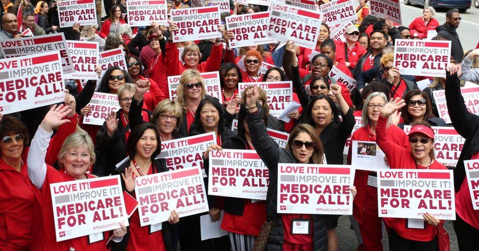 I support #MedicareForAll.  My opponent, Debbie Wasserman Schultz, does not.  Happy #NationalNursesDay!  @NationalNurses @NNUBonnie