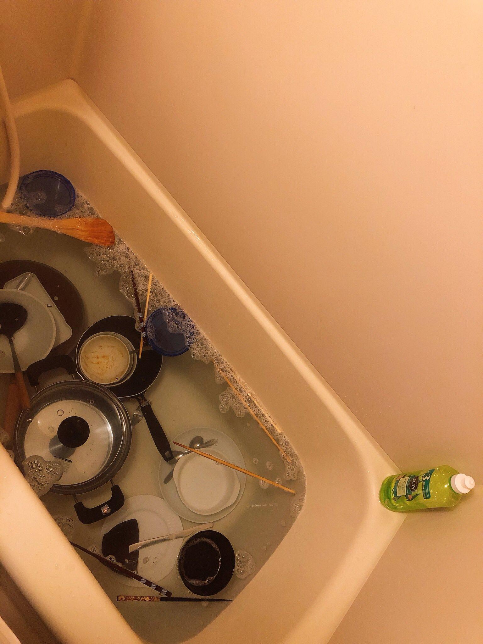 こうなったら人間おしまい?!浴槽をシンク代わりにする人が続出www