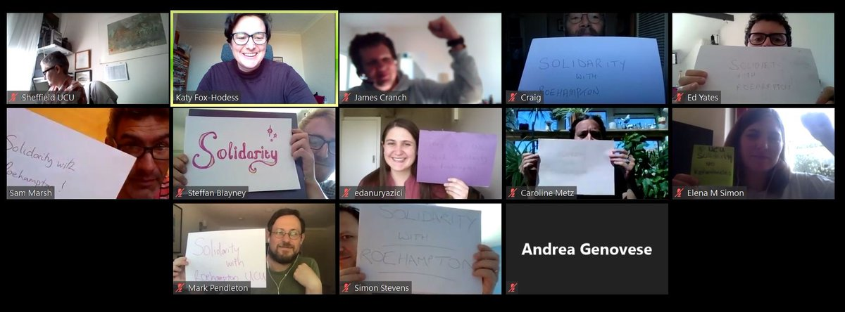 Solidarity from the Sheffield UCU committee with @RoehamptonUCU, standing against @RoehamptonUnis shameful attack on job security, pay and national bargaining! Your fight is our fight.✊ twitter.com/RoehamptonUCU/…