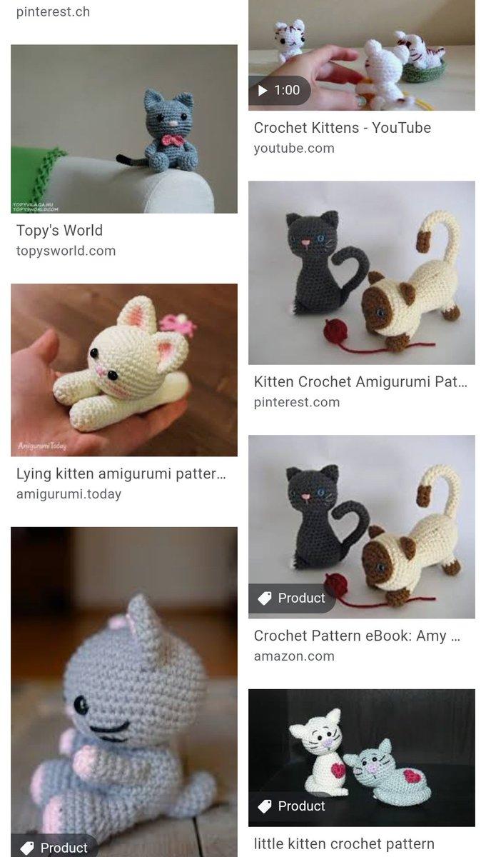 Lying kitten amigurumi pattern | Crochet cat pattern, Crochet ... | 1200x681