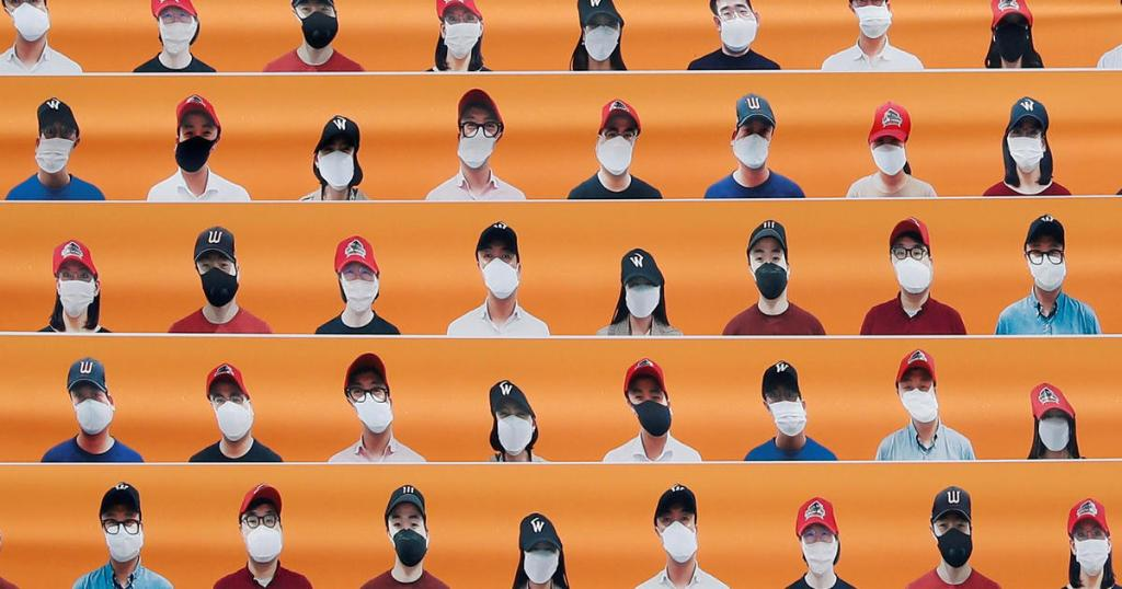 South Korean baseball returns — in empty stadiums with fake fans
