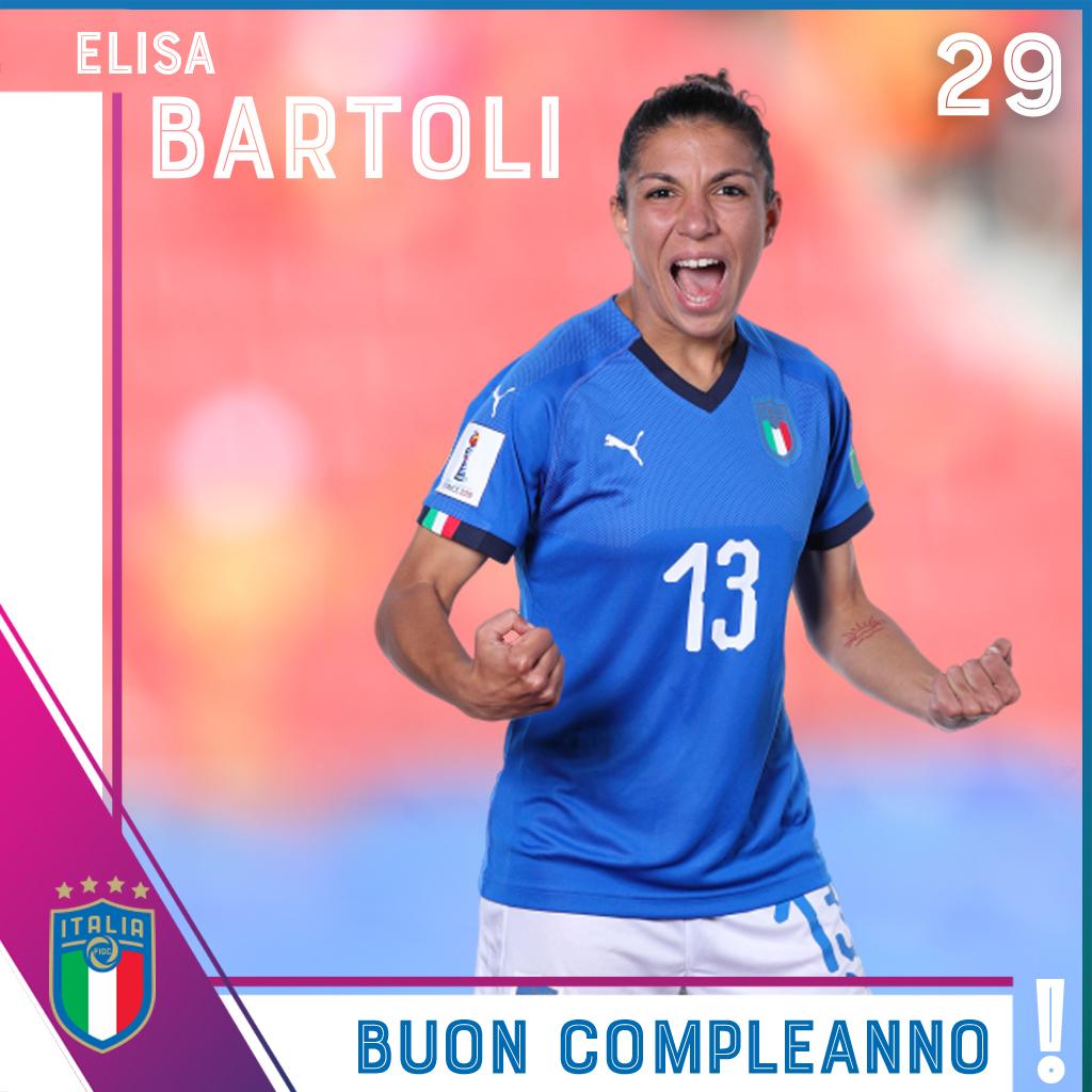 🎂 Buon compleanno ad Elisa #Bartoli❗️  🗓️ #Roma, #7maggio 1991  🇮🇹 6⃣9⃣ presenze ⚽️ 3⃣ gol  #RagazzeMondiali #Azzurre #Italia https://t.co/ar2SC44Oev