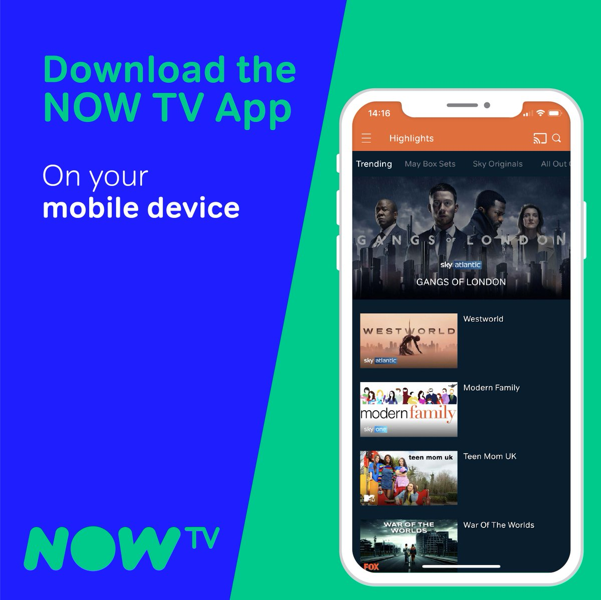 Check out how to download the NOW TV app on your mobile device following these 3 simple steps below👇