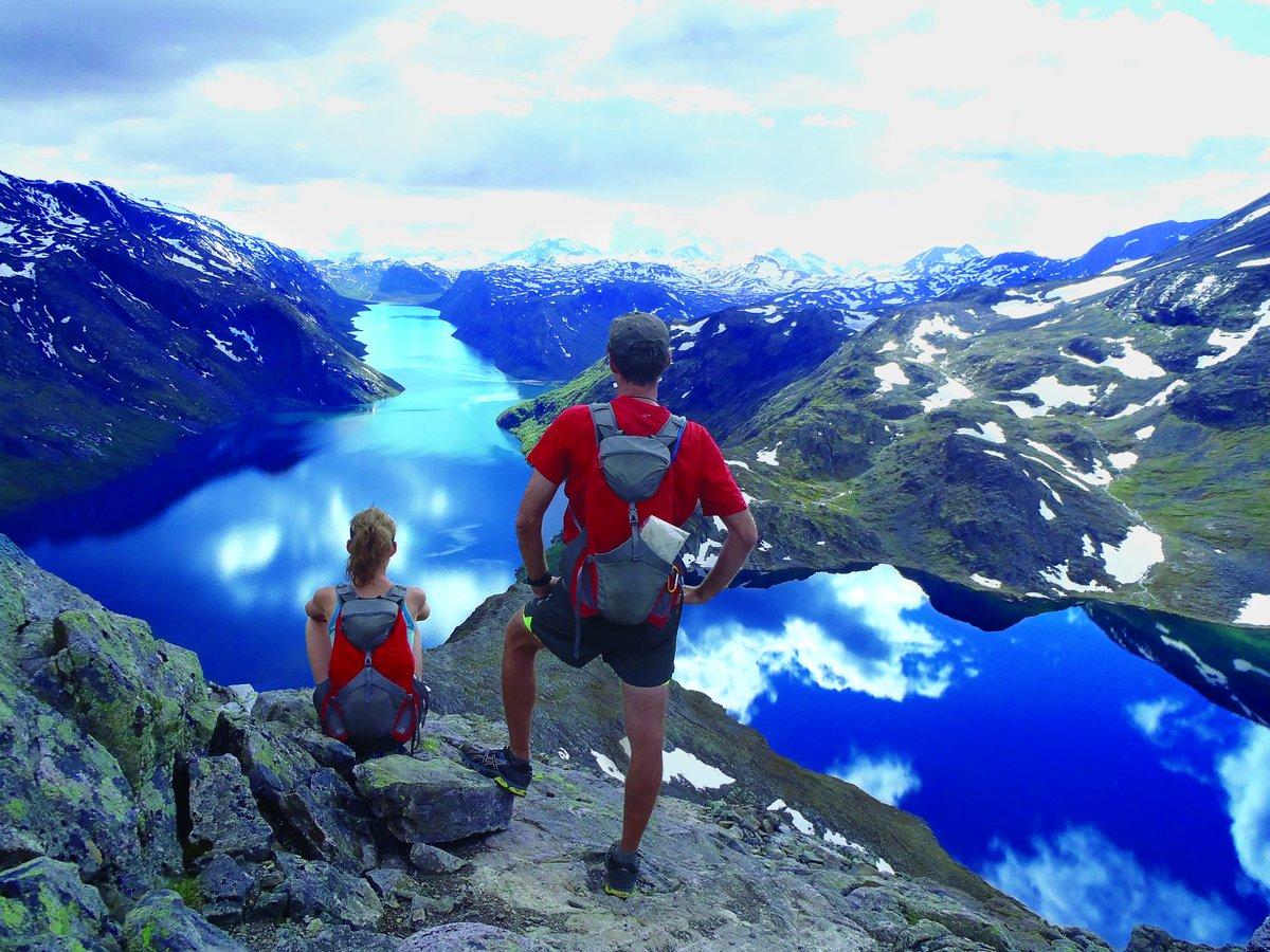 Dreaming of hiking in Norway!☀️🚶♂️ Besseggen mountain walk, Jotunheimen National Park 📸Credit and Copyright: John Fiddler - VisitNorway.com #norway #visitnorway #hikinginnorway #naturetravels