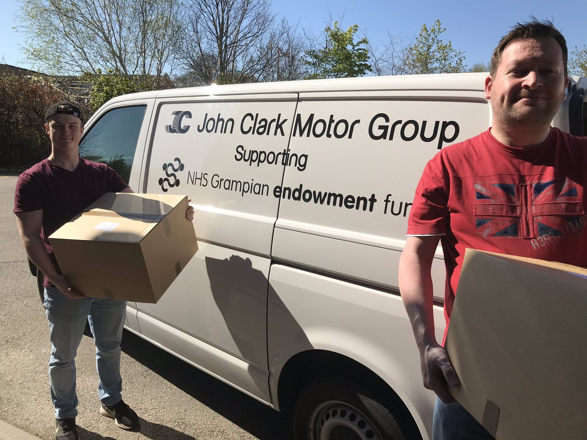 Second day of Comfort Box deliveries to Aberdeen care home staff. #ProudtobeNHSG https://t.co/rcYGqEncKg