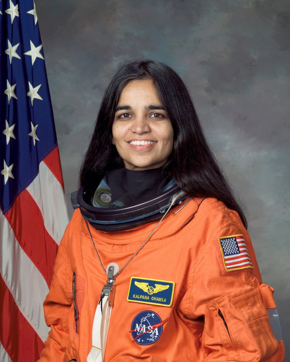 American astronaut Kalpana Chawla because the first woman of Indian decent to travel into space. Tragically, she was killed in the Space Shuttle Columbia disaster in 2003. Read more about her here: pos.li/2fnfvz #APAHM #TBTT