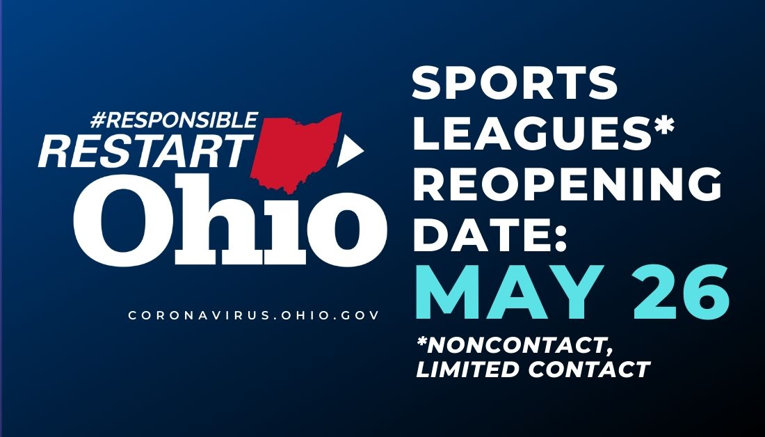 Great news from @GovMikeDeWine today! Stay tuned in the next few days for more information on how this will impact our tournament schedule.