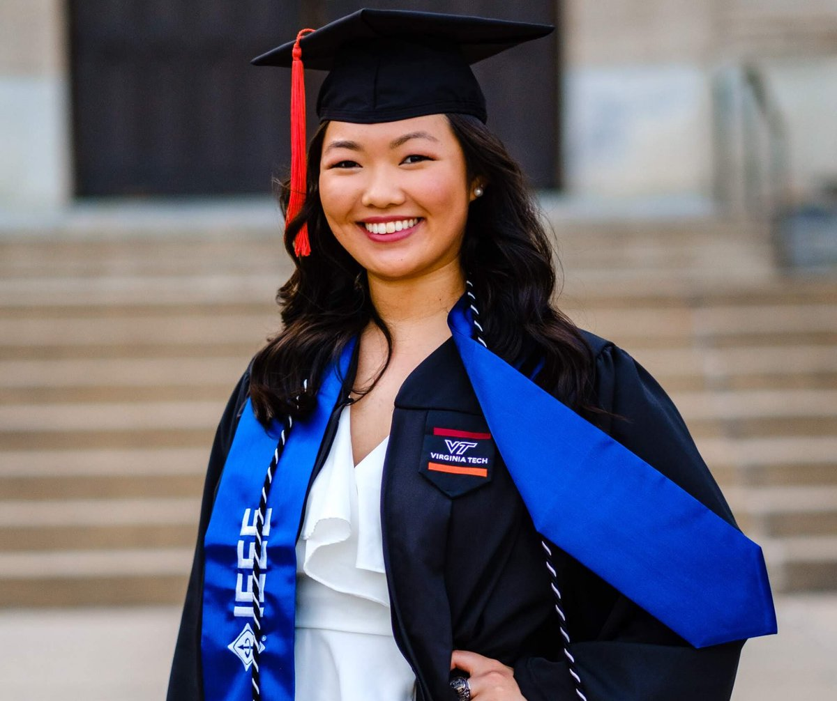 VT First-Gen Graduate Spotlight:  Today, @vt1stgen celebrates Senior Ashley Chang, an Electrical Engineering major, on her graduation! Ashley, we are very proud of you & congratulations on your next chapter! 🎉🎉 #VTFirstGenGraduate #CelebrateFirstGen