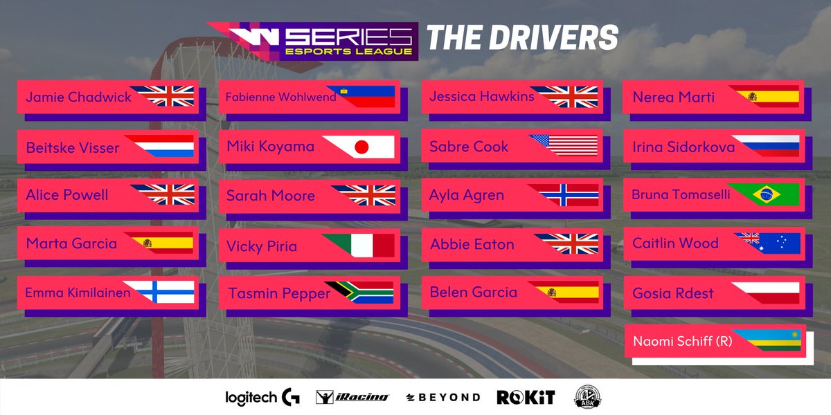 Today we announced three new drivers joining our #WSeriesEsportsLeague. A grid of 20 drivers and one reserve driver makes for a very exciting line-up. 👏 #WSeries