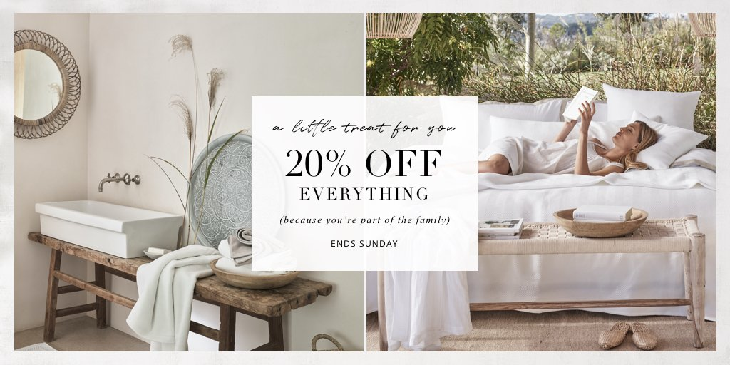 A little treat from us to you (because you're part of the family): get 20% off everything until midnight Sunday. Simply follow the link use code: TREAT20. Let us know what you've got your eye on in the comments below https://t.co/4acObr8iND https://t.co/0alrTjJHV8