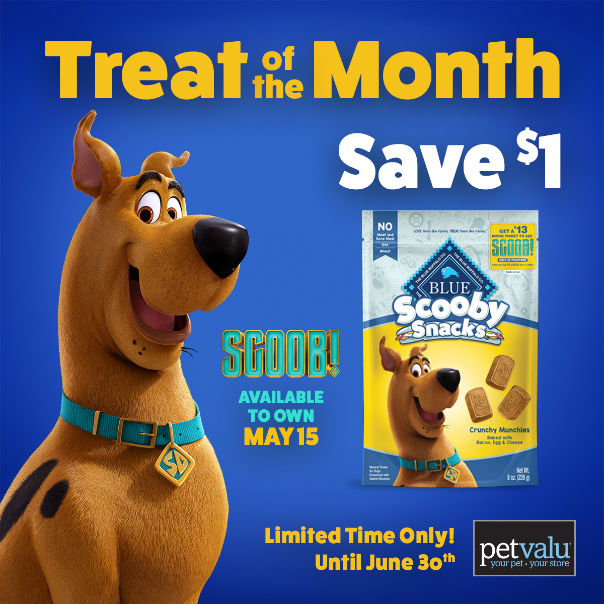 Did someone say Scooby Snacks? Check out the @petvalu Treat of the Month. #SCOOB is available to own tomorrow! https://t.co/OFxenIg0rZ
