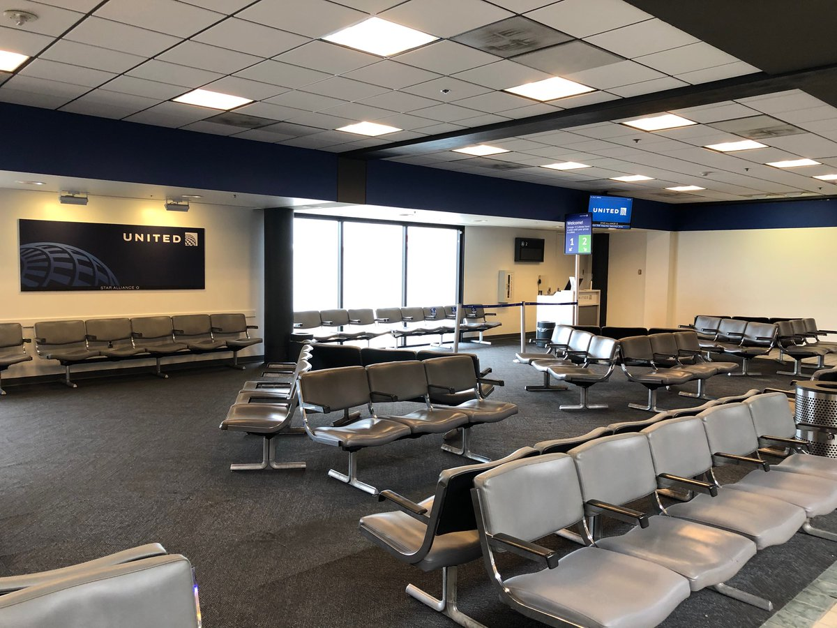 Safety of our customers is top priority @ United. Taking action to re-design our gate hold-room layouts provide customers many choices to sit safely & meet social distancing. @weareunited