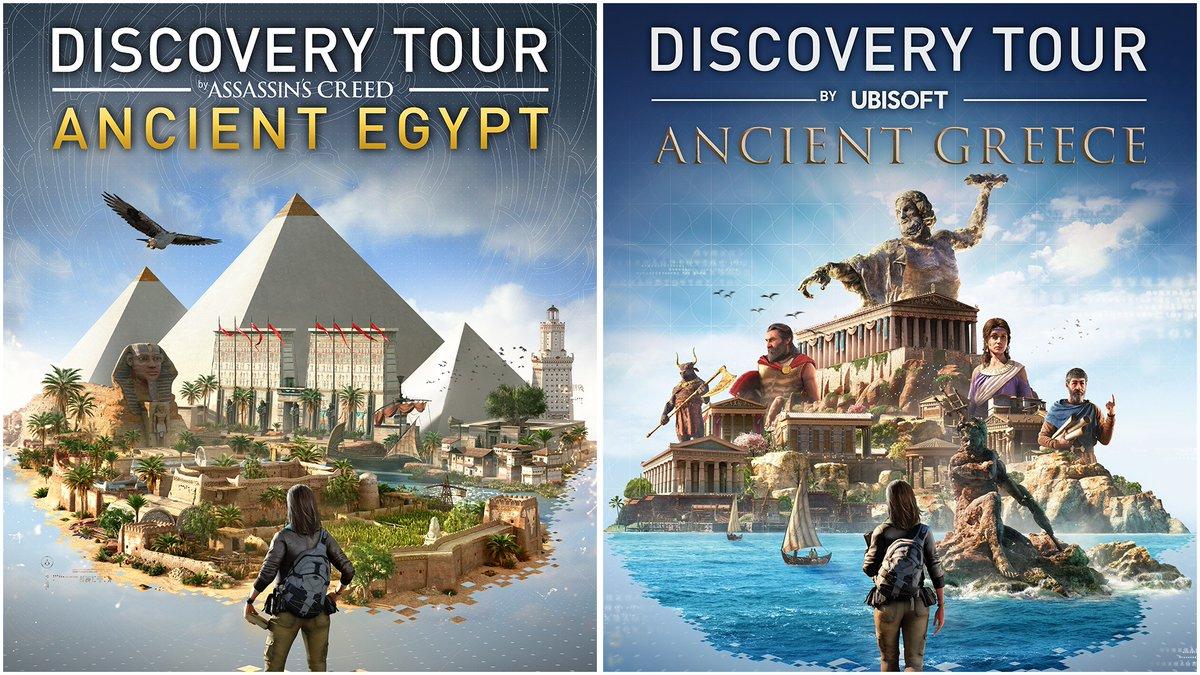 📚➕🎮ATENCIÓN: Descarga GRATIS en PC (para siempre) ambos Discovery Tour: Antigua Grecia y Antiguo Egipto. Podrás recorrer los rincones más importantes de ambas épocas con nuestros tours virtuales, 100% en español. Diversión y aprendizaje asegurados: https://t.co/7HSr6LUbUz https://t.co/uz52UNi7WE