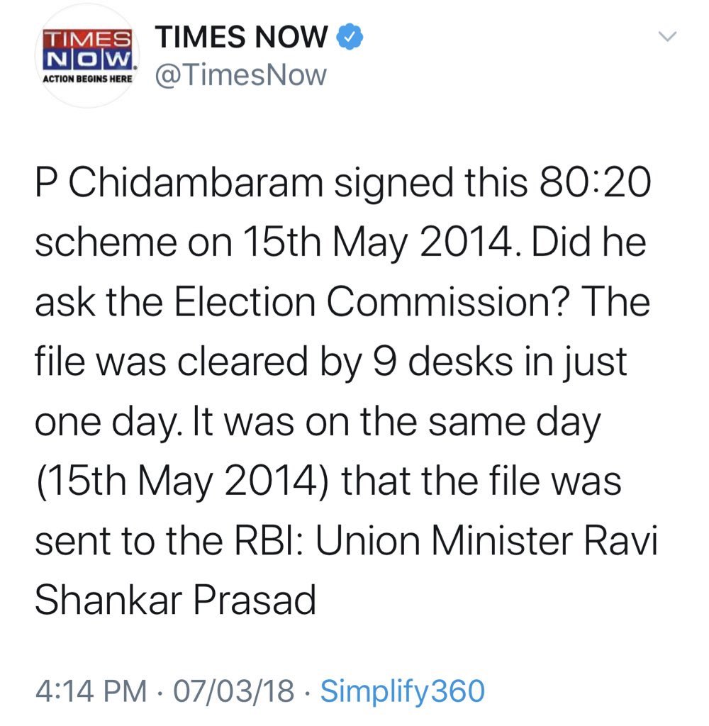 @gprasad28 just before #LokSabhaElections2019 Union Minister Ravi Shankar Prasad is always selective and in damage control mode  in 80:20 Gold Scheme Einstein of Modi Govt RSP questioned❓ PC R3 & all main Players but deliberately forgot to mention involvement of Min in Hon'ble PM Modi Govt https://t.co/RMHf9aT4JV