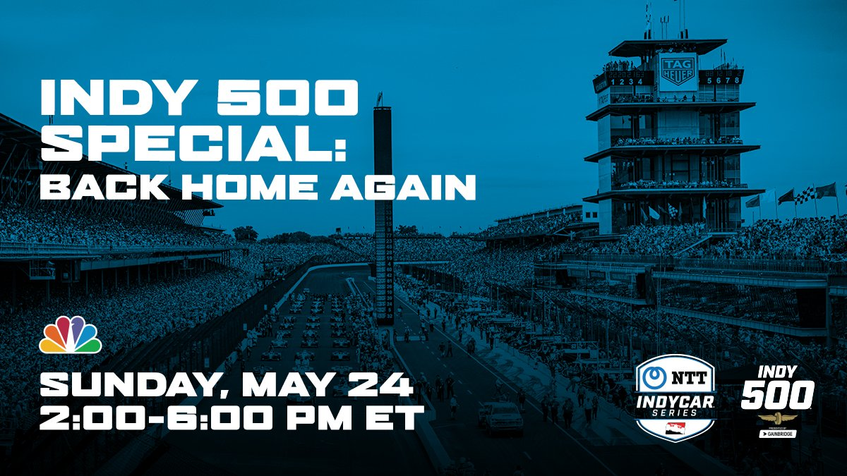 Next Sunday, relive the 2019 Greatest Spectacle in Racing with @simonpagenad and @alexanderrossi as they are joined by @miketirico for the #Indy500 Special: Back Home Again on NBC. Read more: bit.ly/2WYmPrd #INDYCAR // #BackOnTrack