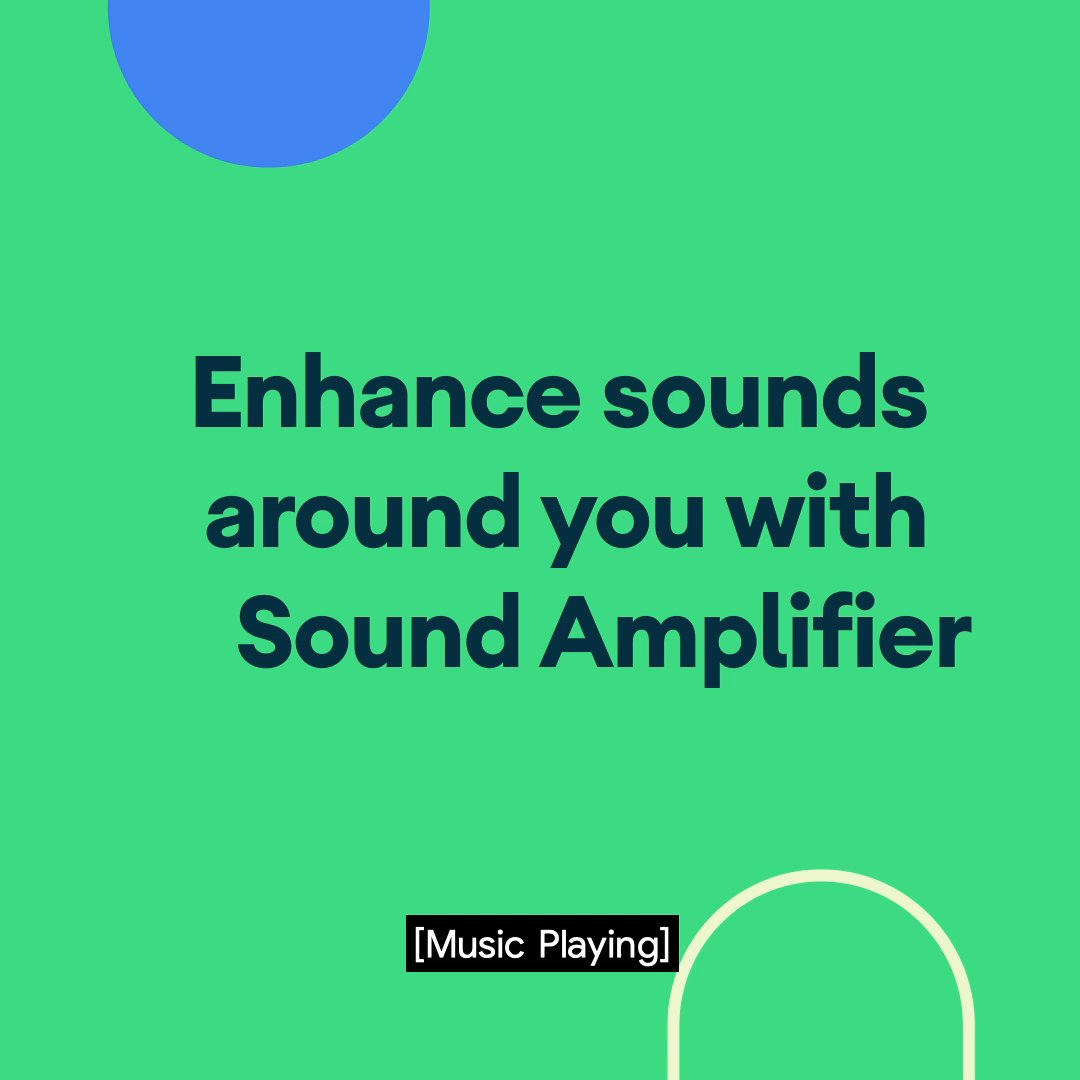 Sound Amplifier helps you hear clearly by personalizing frequency levels. Learn how to enjoy the sounds of the world around you with Android: https://t.co/KLltbKGr1X https://t.co/iICpqn7BML