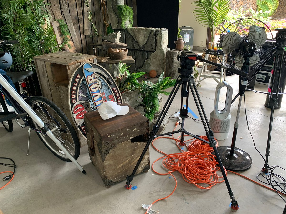 Packing up what is hopefully the last time we film #Survivor from my garage