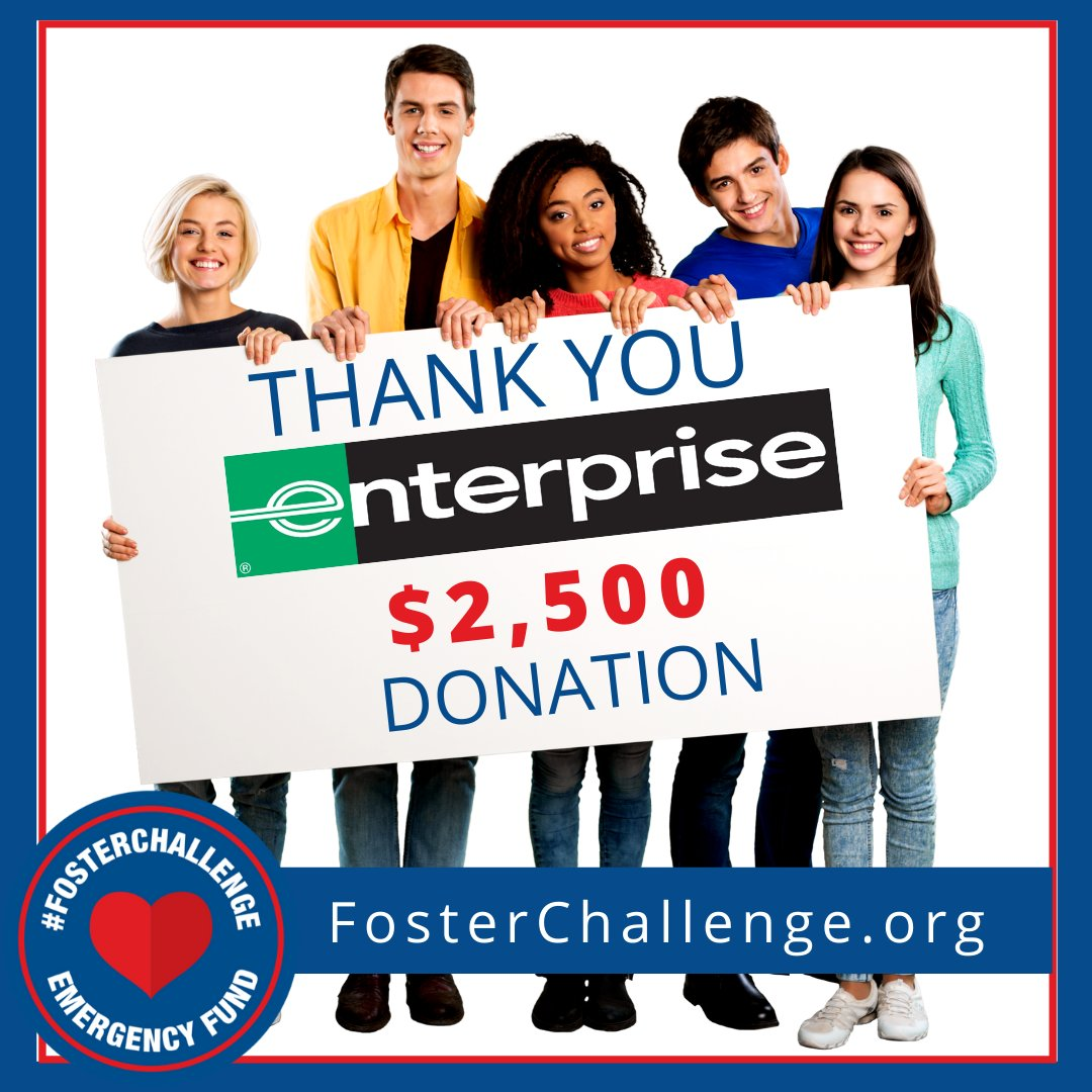 Thank You @enterprise for joining the #FosterChallenge  We appreciate your Generous Donation of $2,500 to support our Foster Youth and the nonprofit foster care organizations that serve them daily.  Visit https://t.co/XlL6iq3s4m to view our awesome Celebrity experiences! https://t.co/jXPqeoXBvi