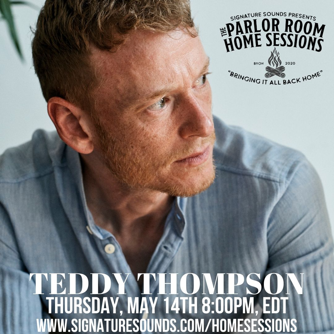 TONIGHT! @teddythompson performs LIVE from his home for The Parlor Room Home Sessions at 8pm, ET. Tune in at https://t.co/Uyu9Z4S1ou 🌞 #theparlorroomhomesessions @SigSoundsRec https://t.co/SNzOtkFE9C