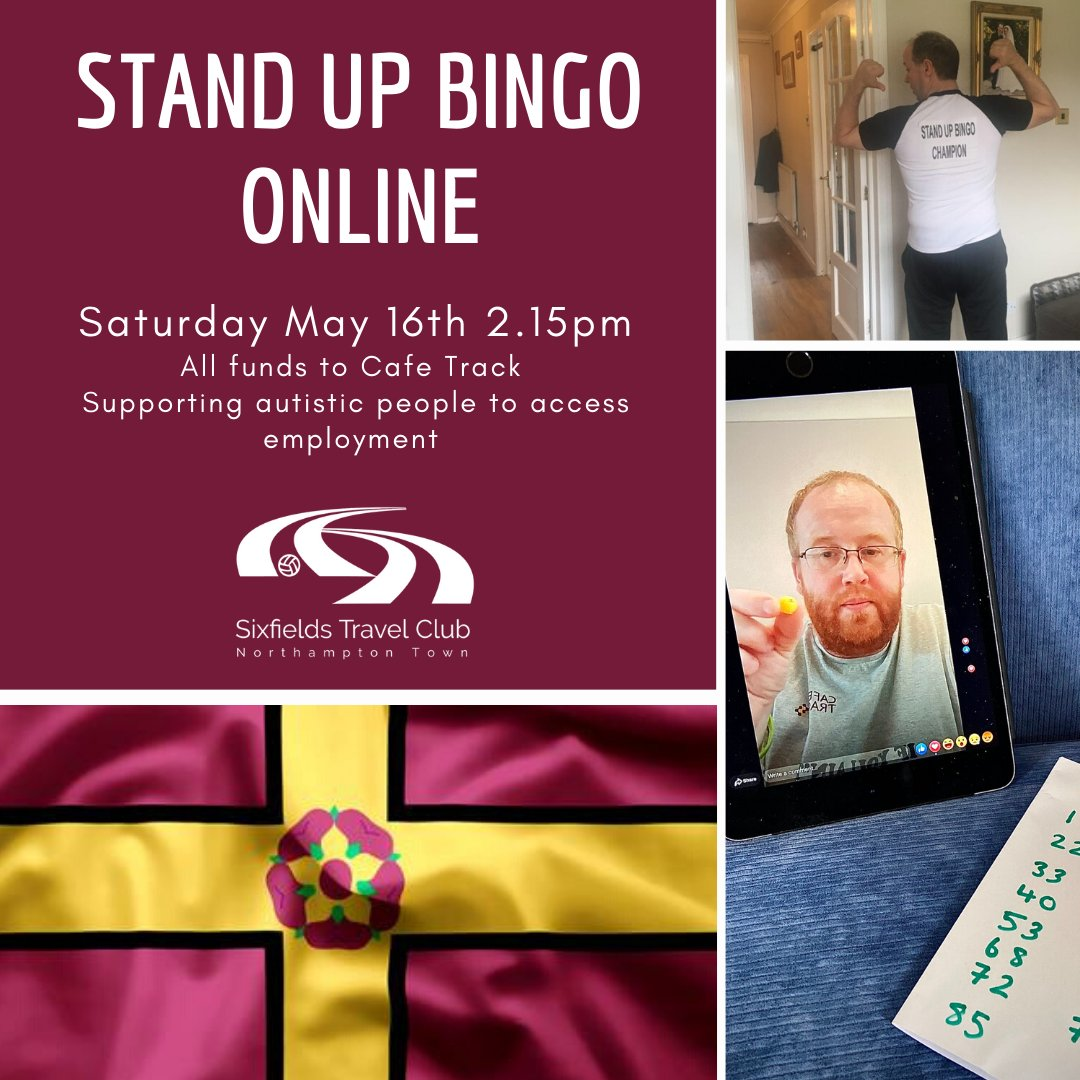 Its back, and we are going for a world record of 250 tickets sold! Will you be part of history? buymeacoffee.com/cafetrack All funds to @cafetracknn #autism #employment Made in Northampton, Played Around the World #northantshour #standupbingo