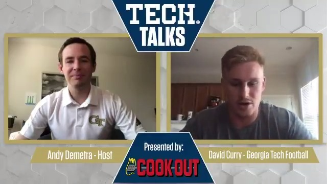 This afternoons episode of #TechTalks has @AndyDemetra catching up with @GeorgiaTechFBs @D_Curry_22. #4the404 /// #TogetherWeSwarm Presented by @CookOut