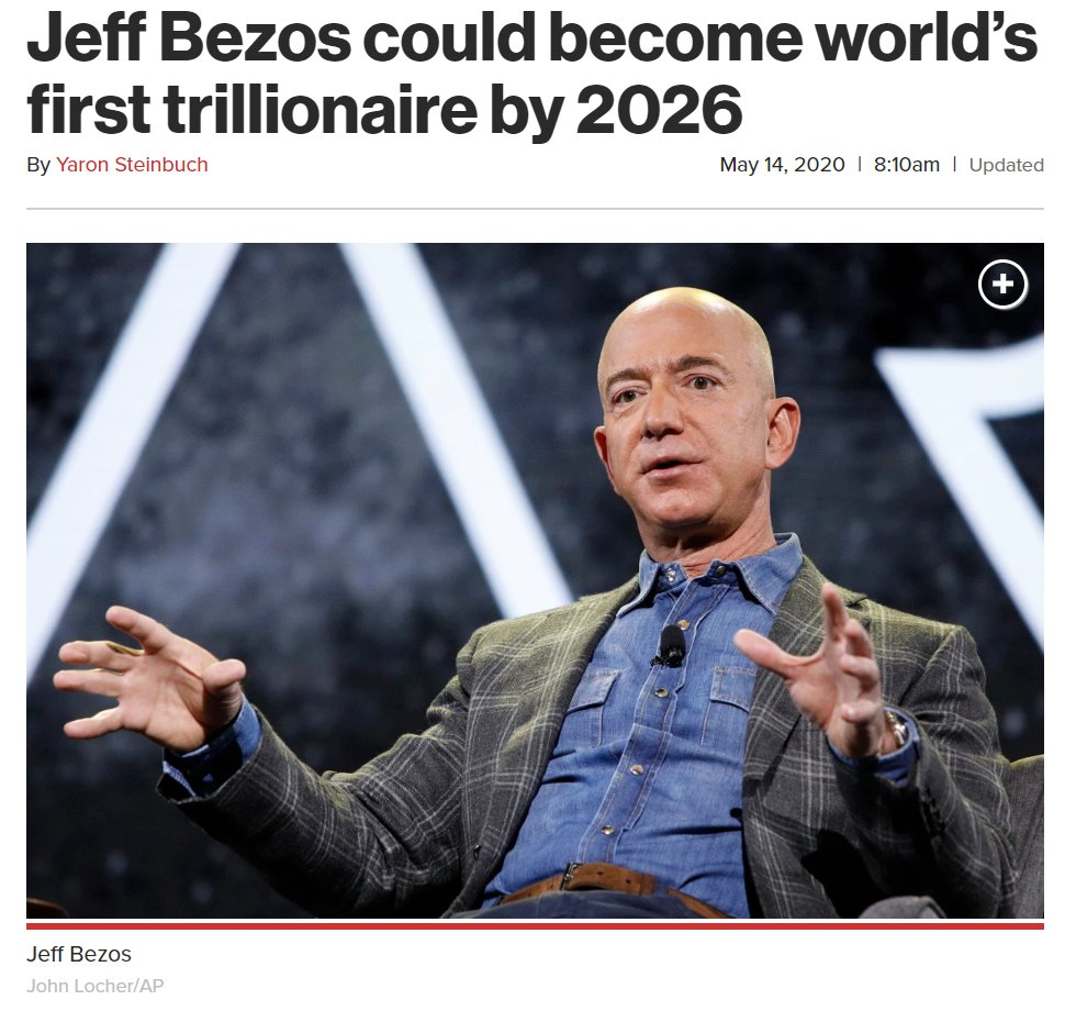 While Jeff Bezos is on track to become the world's first trillionaire in the middle of a pandemic, Amazon is ending overtime pay for warehouse and delivery workers on the front lines. This is immoral.