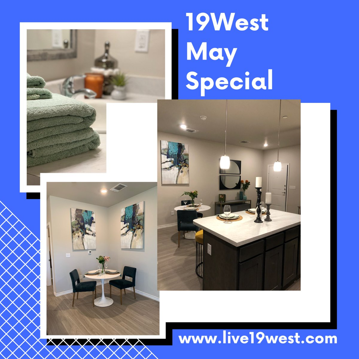 Apply today, move in by May 15th & get the entire month's rent FREE!!! Going Fast! #lubbockapartments #love19west #lubbockapartmentassociation  #fall2019 #luxuryliving #luxuryapartments #goingfast #cozyliving #lovewhereyoulive #livewhereyoulove #frenshipschool #ttu #lcu #spc