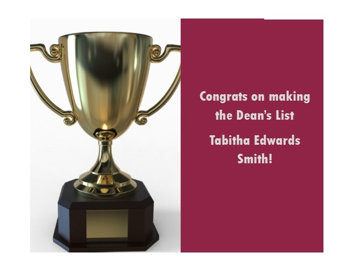 Congrats to Tabitha Edwards Smith, an #EKU #CRJ #PLS student at our @EKUVirginiaSite for her placement on the #fall2019 Dean's List. Keep up the great work Tabitha! .