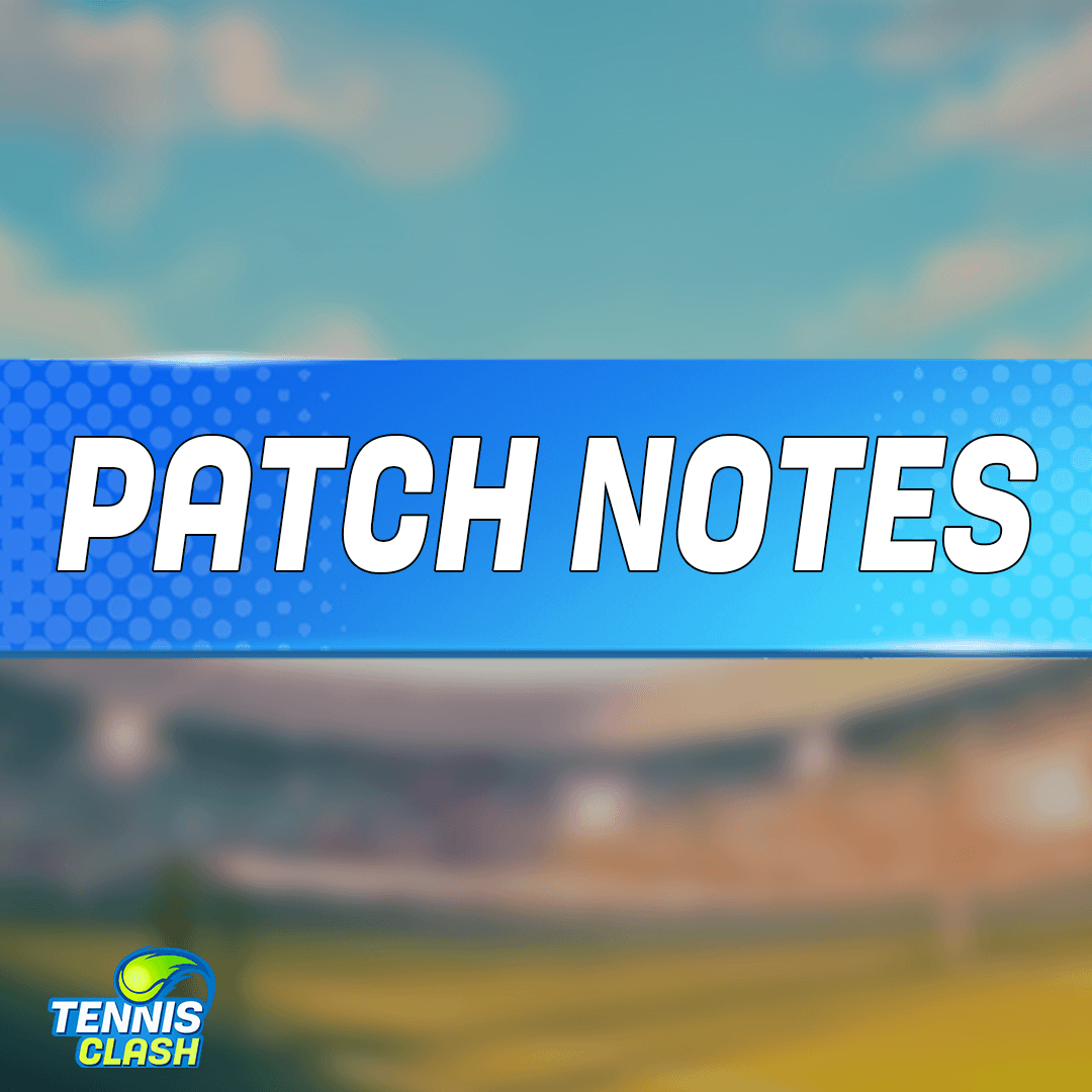 A new patch dropped on the court!  - Tour Item Caps - New air resistance physics - Stamina Consumption when returning balls - Stamina Shield Nerf - Agility Buff - Item Stats rebalance - Card Level Change - Compensation for changes  Check the full patch notes in your mailbox! https://t.co/E9doreclib