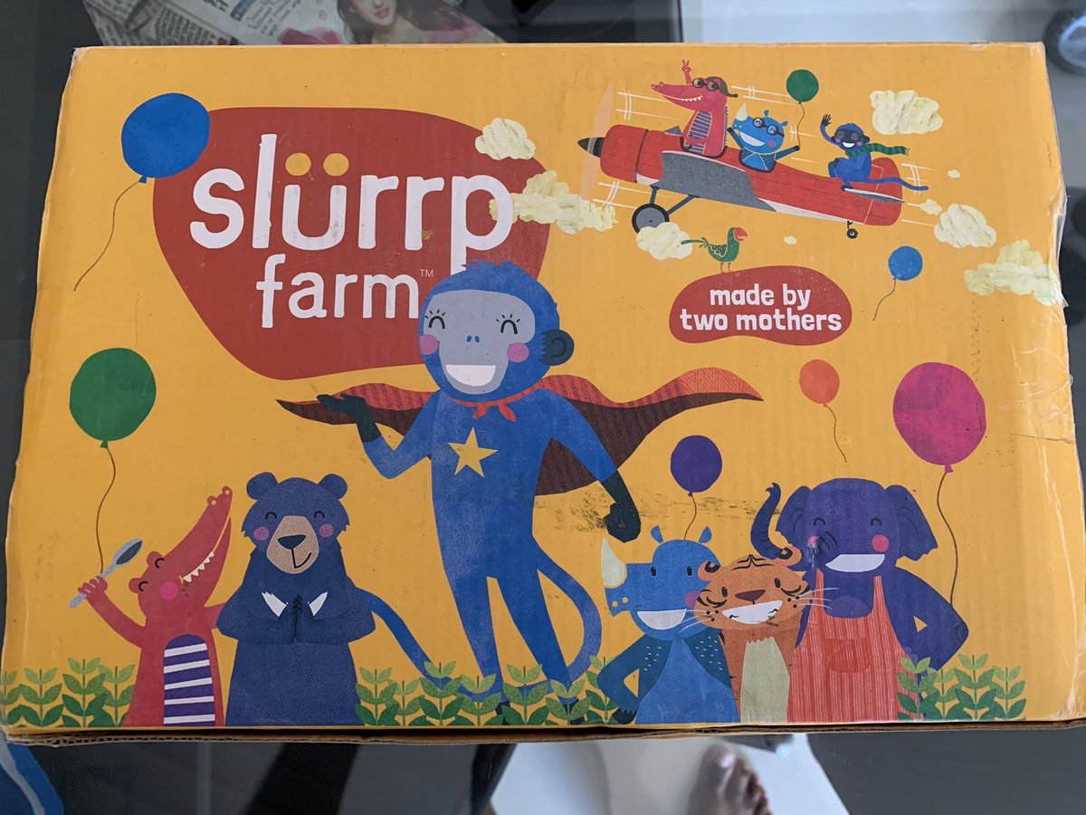 Thank you @SlurrpFarm for delivering the baby food within 8 days during lockdown. My son loves it 😀
