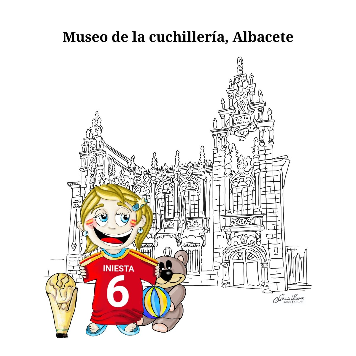 Hola Perejiles!!! #VictoriaPerejil está en la provincia de #Albacete y quiere rendir homenaje a #Iniesta #Fútbol  #Fuentealbilla. #CastillaLaMancha Disfruta y colorea!!! 👇  #EspañaDeMilColores #JuntoLoEstamosConsiguiendo #QuédateEnCasa