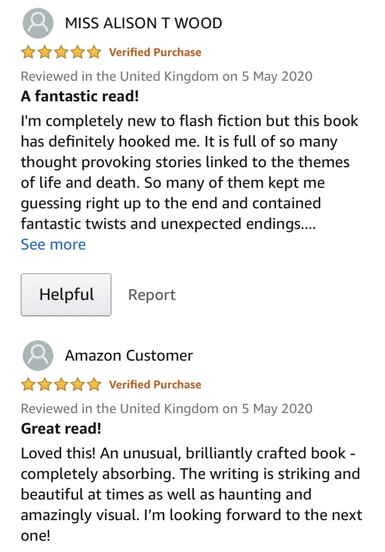 What's this? 2 new ⭐️⭐️⭐️⭐️⭐️ reviews of The Fabric of Tombstones! 🥳🥳