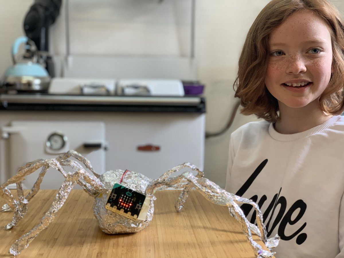 Our primary computing pupils have been working hard at #HutchieAtHome. P5's Livvi made a wonderful micropet that she programmed herself.  Martha, P4, has completed all her coding courses online. #WeAreHutchie #BeOneOfUs https://t.co/VcgViRNvEd