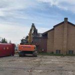 Image for the Tweet beginning: Demolition at 544 Bridgeport Rd