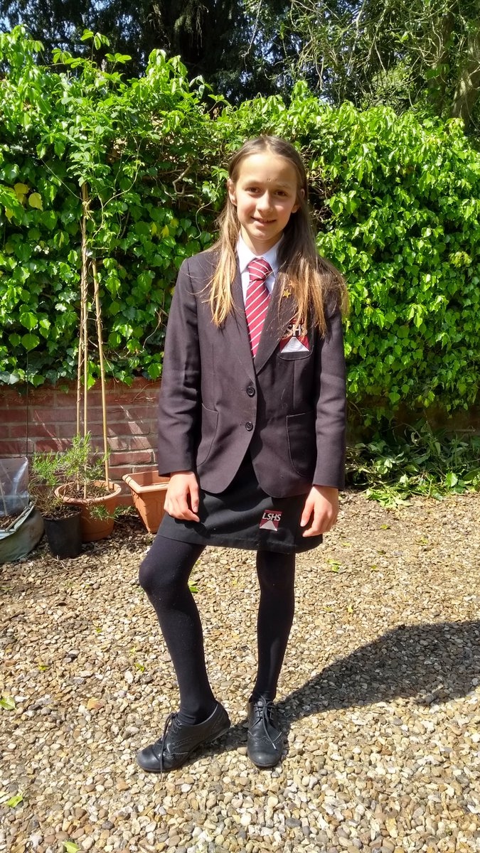 It's a nice sunny afternoon for our school uniform day!