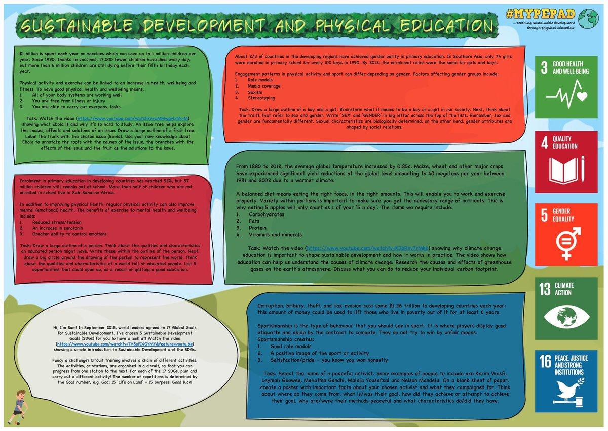 @TheWorldsLesson A sustainable development and physical education worksheet!