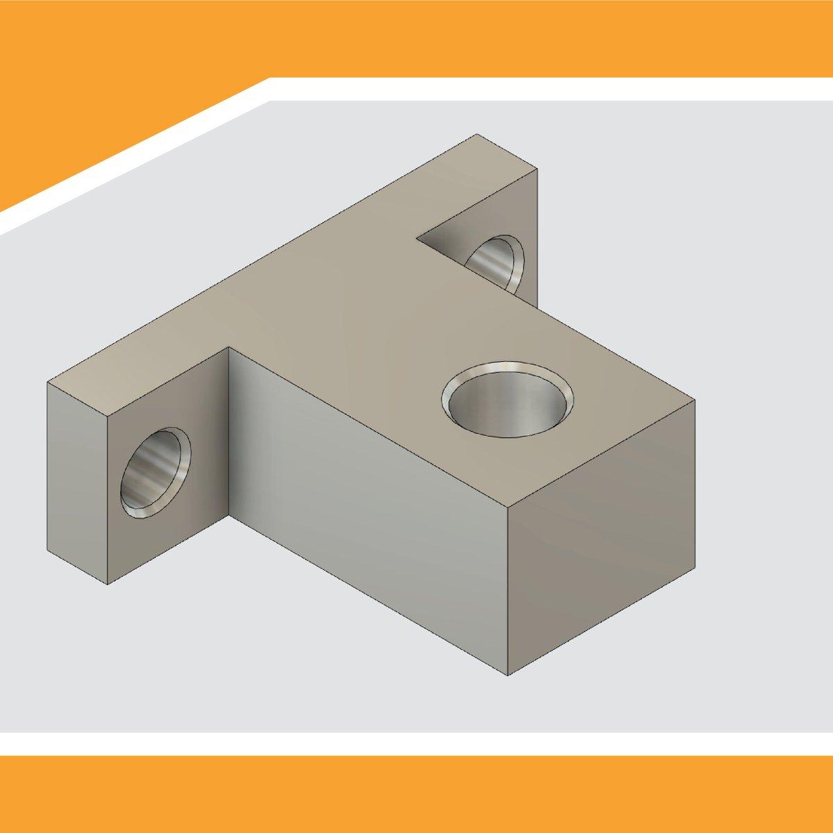 Presto altri pezzi! Questo è un supporto per assi lineari che utilizzerò per gli assi del carrello Z. #cnc #diy #fusion #fusion360 #autodesk #3Dprint #3Dparts #fusion360cam #homemadecnc #cnchomemade