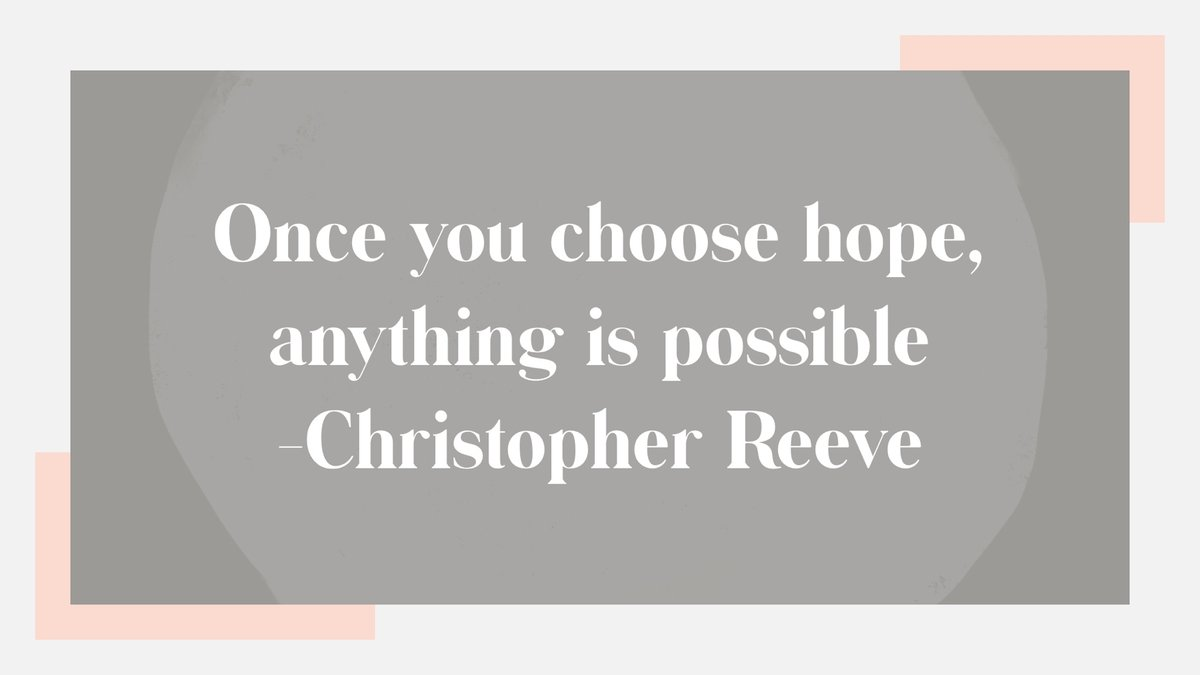 """""""Once you choose hope, anything is possible""""- Christopher Reeve #hope #wordswagapp https://t.co/bCfoIIF3QL"""