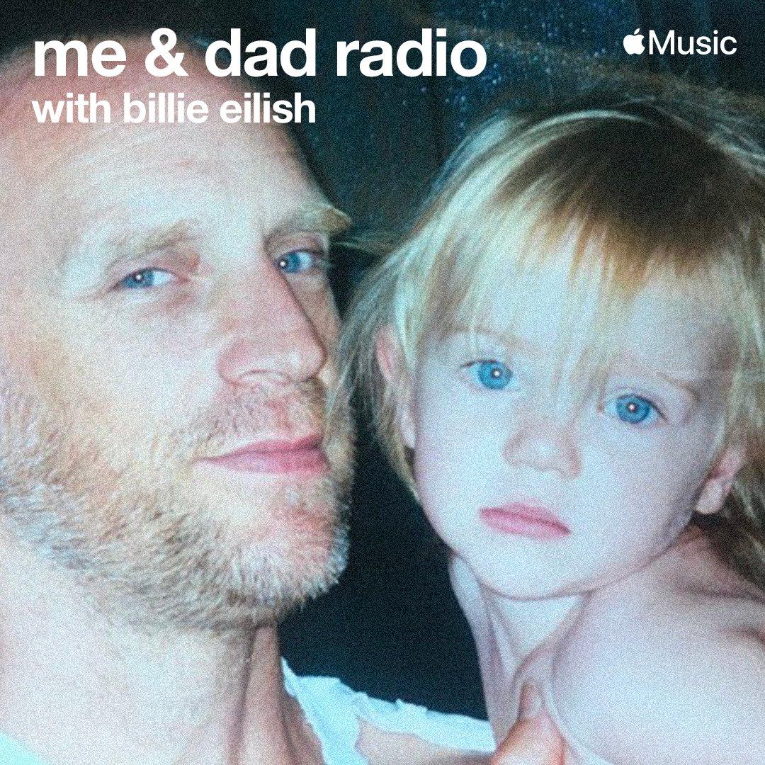 "Billie Eilish - ""me & dad radio"" on @applemusic @beats1 Airing starting tomorrow at 12pm PT https://t.co/xSnC1qneV9 https://t.co/su4Bv2PA3O"
