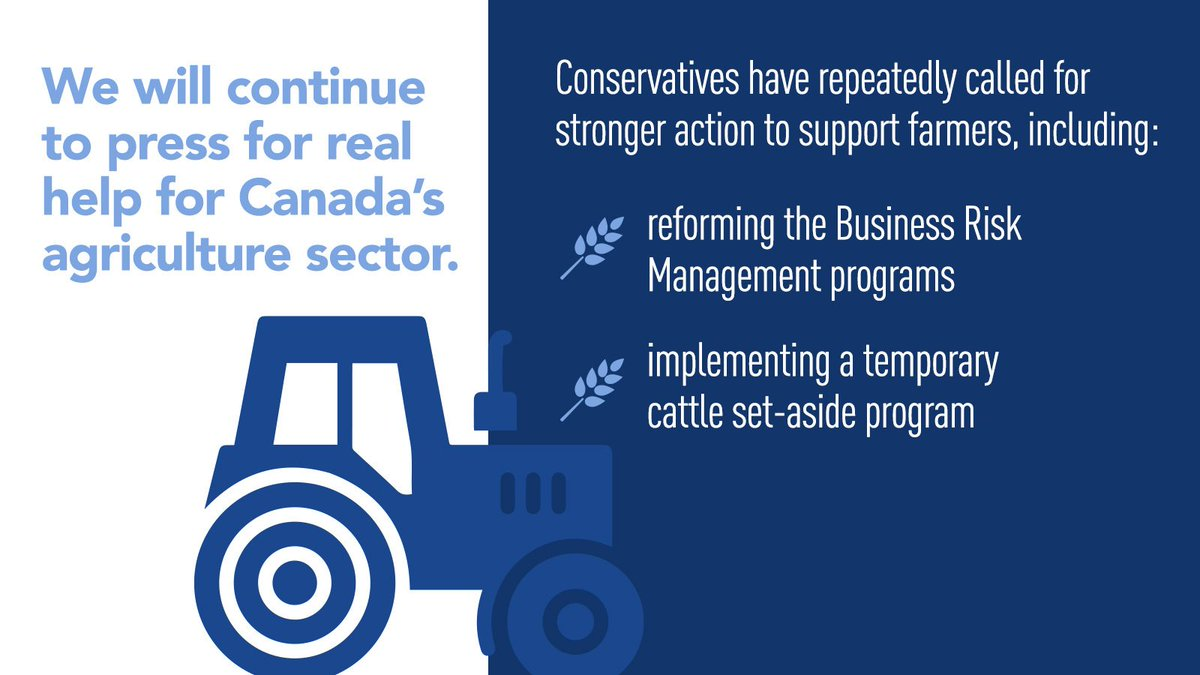 It's clear that even though farmers and producers are fighting through this pandemic and feeding the nation, the government does not consider the agriculture sector to be a priority. #cdnpoli #CdnAg