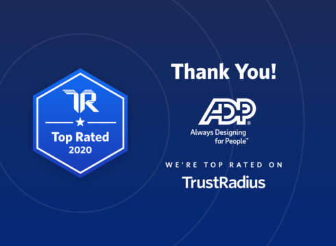 Thank you to our RUN Powered by ADP® clients for helping us earn a 2020 Top Rated Award in payroll from TrustRadius. We appreciate your feedback and having the opportunity to support the small business community. https://t.co/VStb8GvtSu https://t.co/yNQjJvgLfH