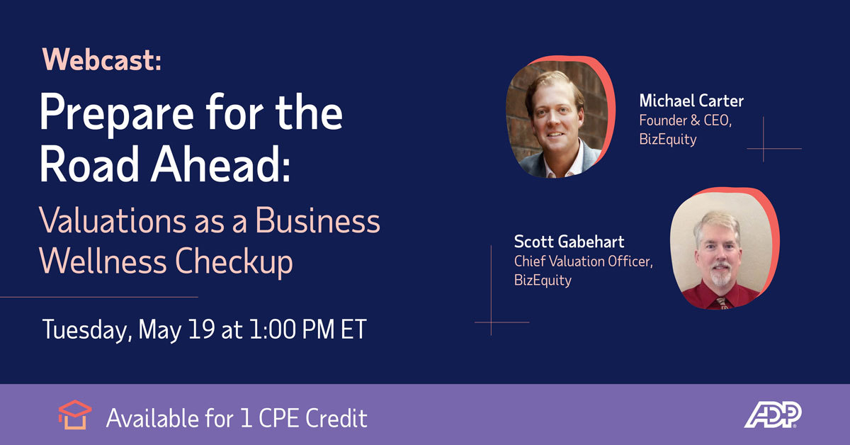 Join BizEquity's CEO and Founder, Michael Carter, and Chief Valuation Officer, Scott Gabehart, as they cover how BizEquity can help prepare you for the road ahead.  https://t.co/8aAQy8Z7Rk https://t.co/I7LK9ZIWbD