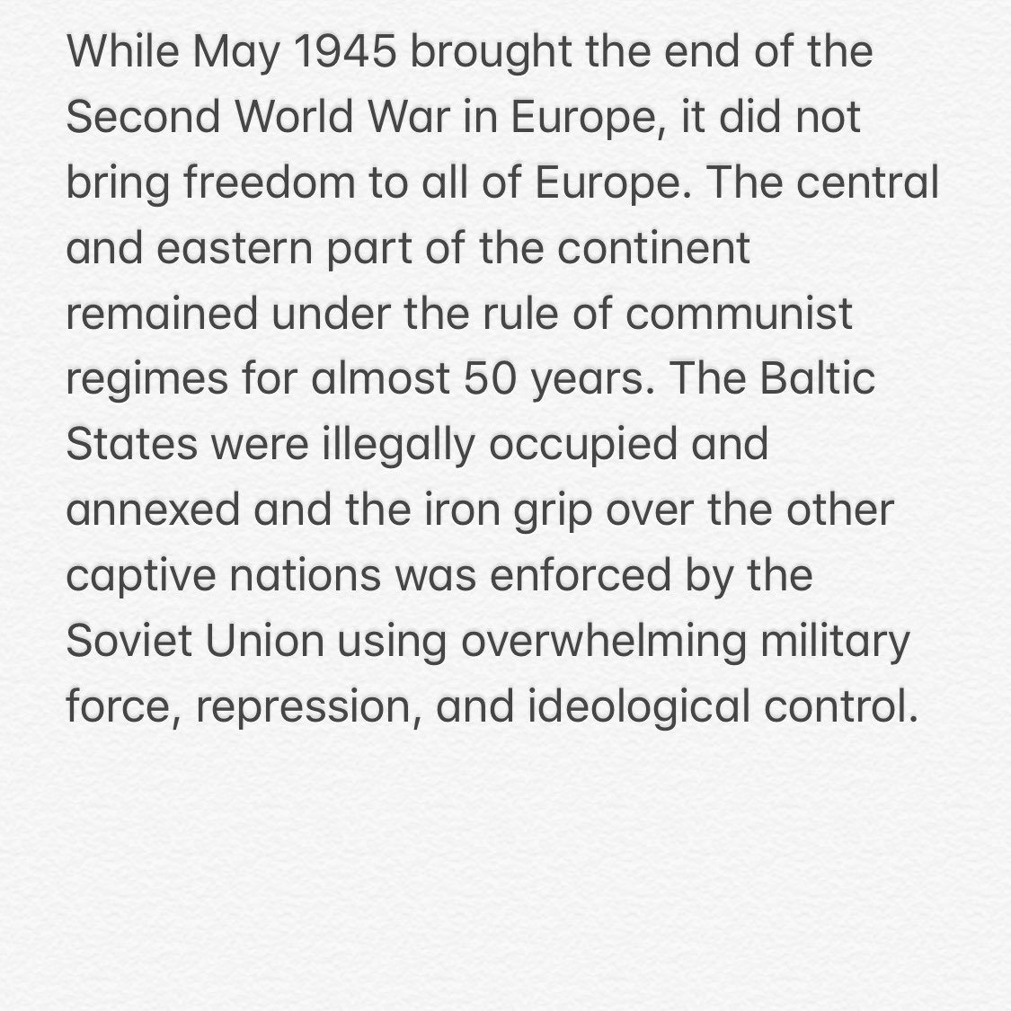 Read our Statement on the 75th Anniversary of the End of the Second World War  @SecPompeo @EZaharievaMFA @UrmasReinsalu @TPetricek @LinkeviciusL @BogdanAurescu @IvanKorcok #Czaputowicz #Szijarto 👉 https://t.co/bDg9ensTk3  🇧🇬 🇨🇿 🇪🇪 🇭🇺  🇱🇻 🇱🇹 🇵🇱 🇷🇴 🇸🇰 🇺🇸 https://t.co/SjEWkuNABk